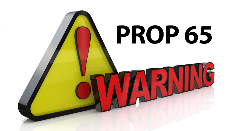 California's Proposition 65 New Warning Requirements . . . it's a SIGN